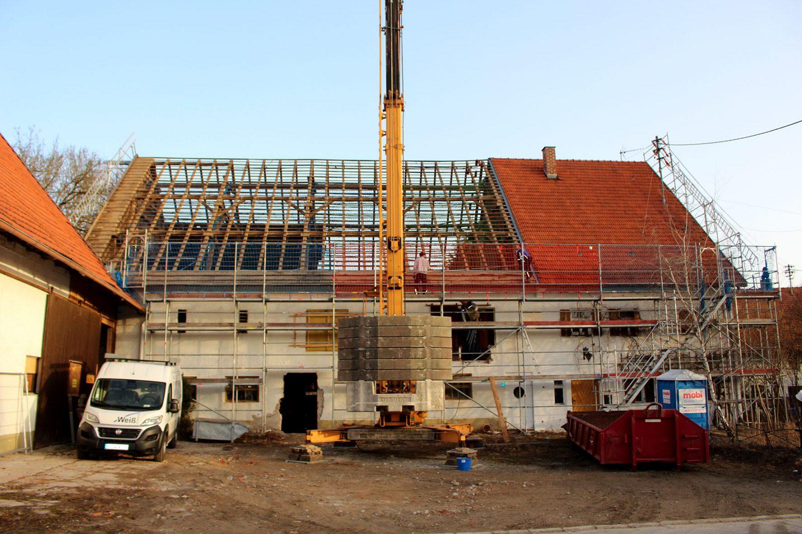 Baustelle Weicht
