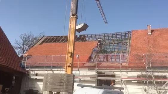 Weicht Dach abdecken